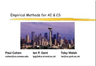 Empirical Methods for AI & CS
