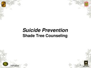 Suicide Prevention Shade Tree Counseling