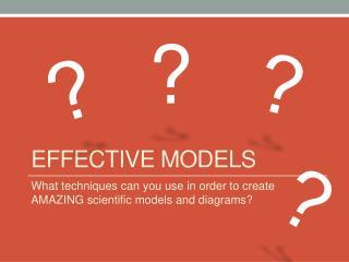 Effective Models