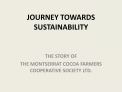 JOURNEY TOWARDS SUSTAINABILITY