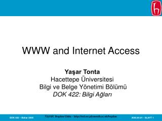 WWW and Internet Access