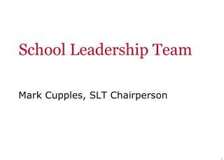 School Leadership Team