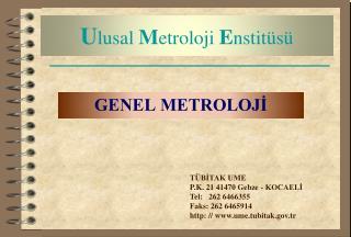 Ulusal Metroloji Enstit s