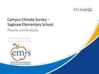 Campus Climate Survey –  Saginaw Elementary School