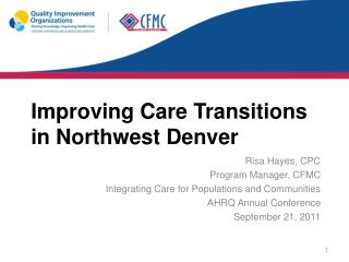 Improving Care Transitions in Northwest Denver
