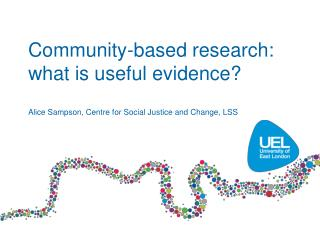 Community-based research: what is useful evidence?