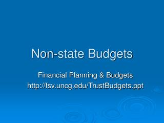 Non-state Budgets