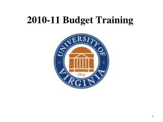 2010-11 Budget Training