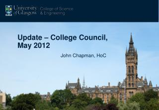 Update – College Council, May 2012