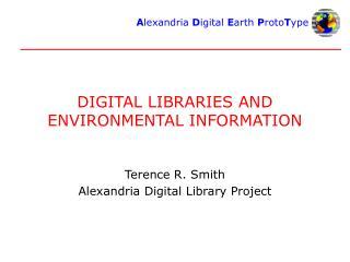 DIGITAL LIBRARIES AND ENVIRONMENTAL INFORMATION
