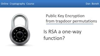 Is RSA a one-way function?