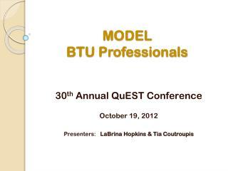 MODEL  BTU Professionals