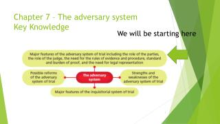 Chapter 7 � The adversary system Key Knowledge