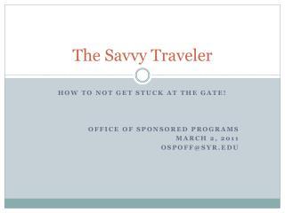 The Savvy Traveler