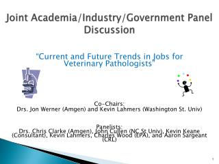Joint  Academia/Industry/Government  Panel Discussion