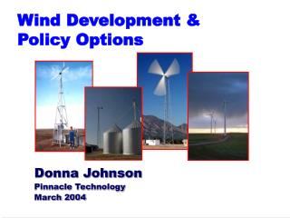 Wind Development &  Policy Options