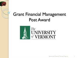Grant Financial Management  Post Award