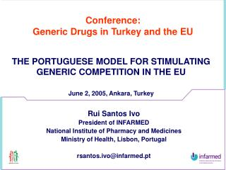 Conference: Generic Drugs in Turkey and the EU