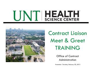 Contract Liaison Meet & Greet  TRAINING