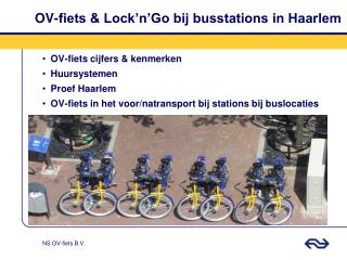 OV-fiets & Lock'n'Go bij busstations in Haarlem