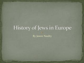 History of Jews in Europe