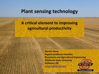 Plant sensing technology