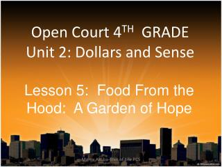 Open Court 4TH  GRADE Unit 2: Dollars and Sense
