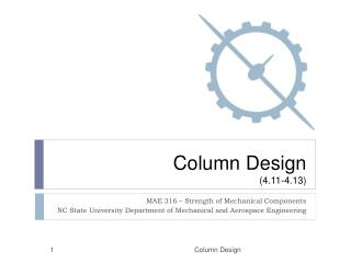 Column Design (4.11-4.13)