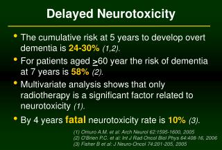 Delayed Neurotoxicity