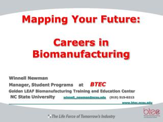 Mapping Your Future: Careers in Biomanufacturing