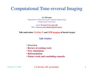 Computational Time-reversal Imaging