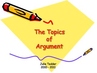 The Topics of  Argument