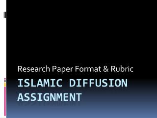 Islamic Diffusion Assignment