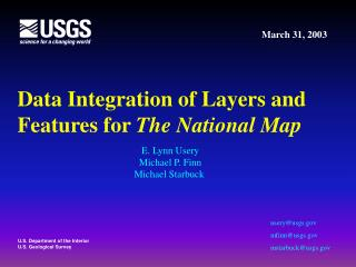 Data Integration of Layers and Features for The National Map