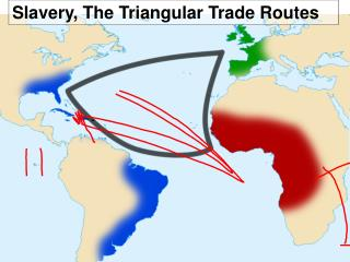 Slavery, The Triangular Trade Routes