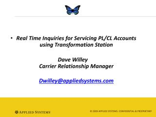 Real Time  Inquiries for Servicing PL/CL Accounts using Transformation Station