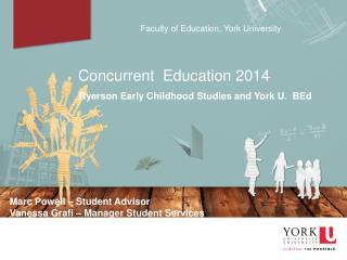 Faculty of Education, York University