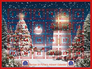 Barton St Peter's Advent Calendar