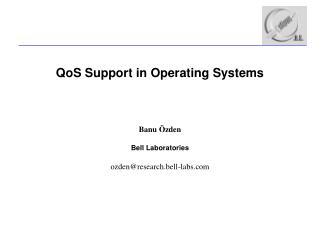 QoS Support in Operating Systems
