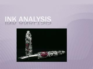 Ink Analysis
