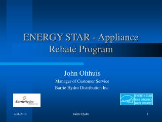 ENERGY STAR - Appliance Rebate Program