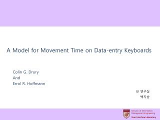 A Model for Movement Time on Data-entry Keyboards