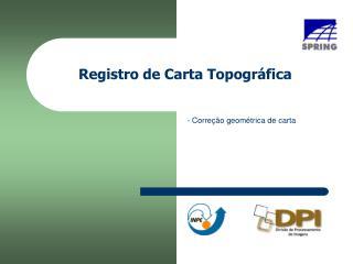 Registro de Carta Topográfica