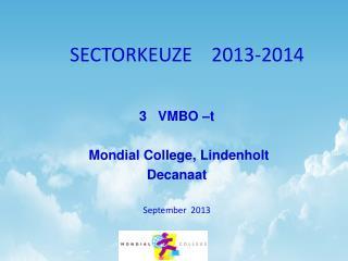 SECTORKEUZE    2013-2014