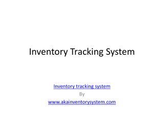 Inventory Tracking System