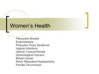 Women�s Health