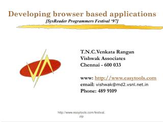 Developing browser based applications [SysReader Programmers Festival '97]