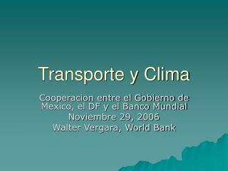 Transporte y Clima