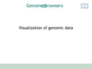 Visualization of genomic data