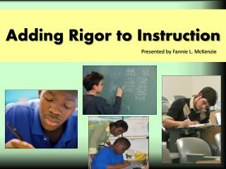 Adding Rigor to Instruction